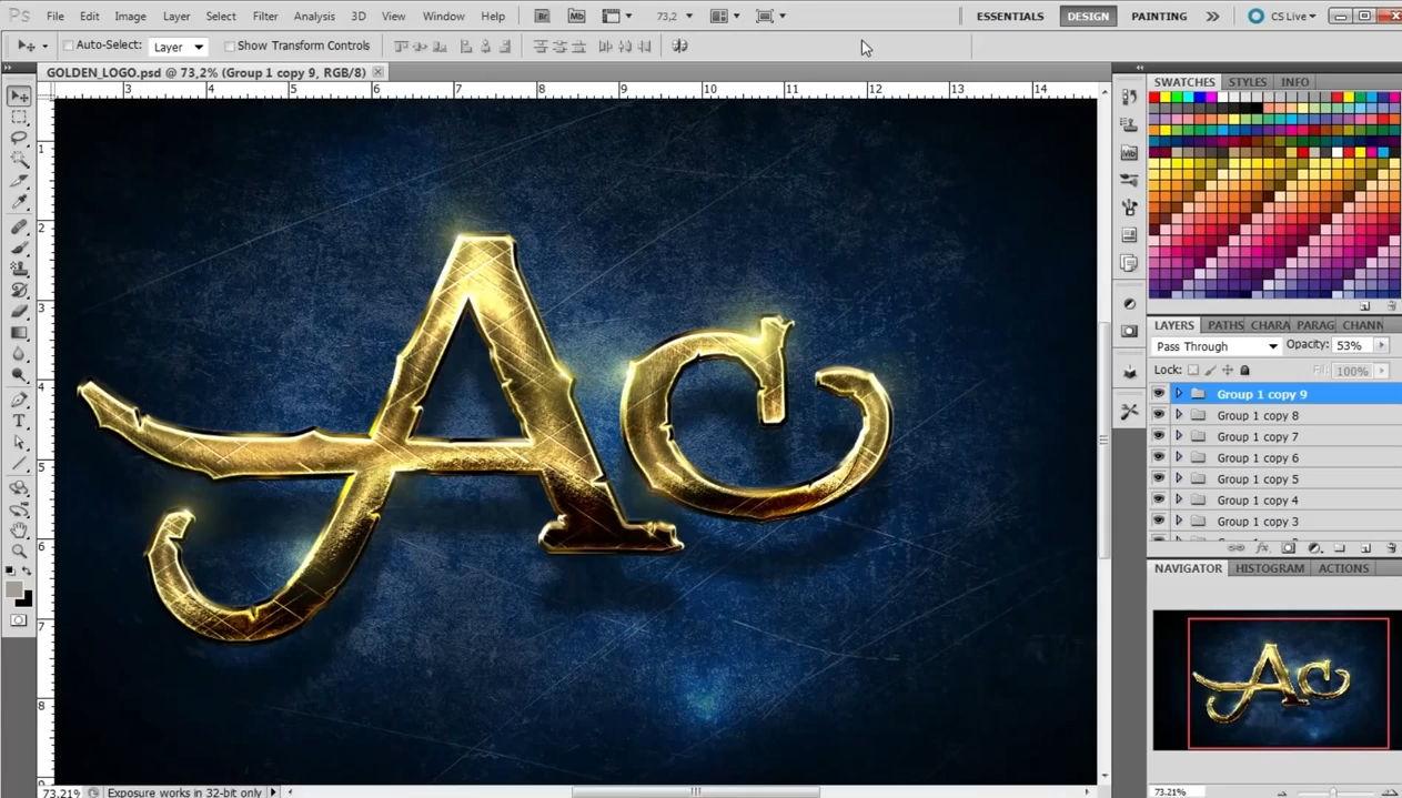 Как сделать красивый логотип на фото